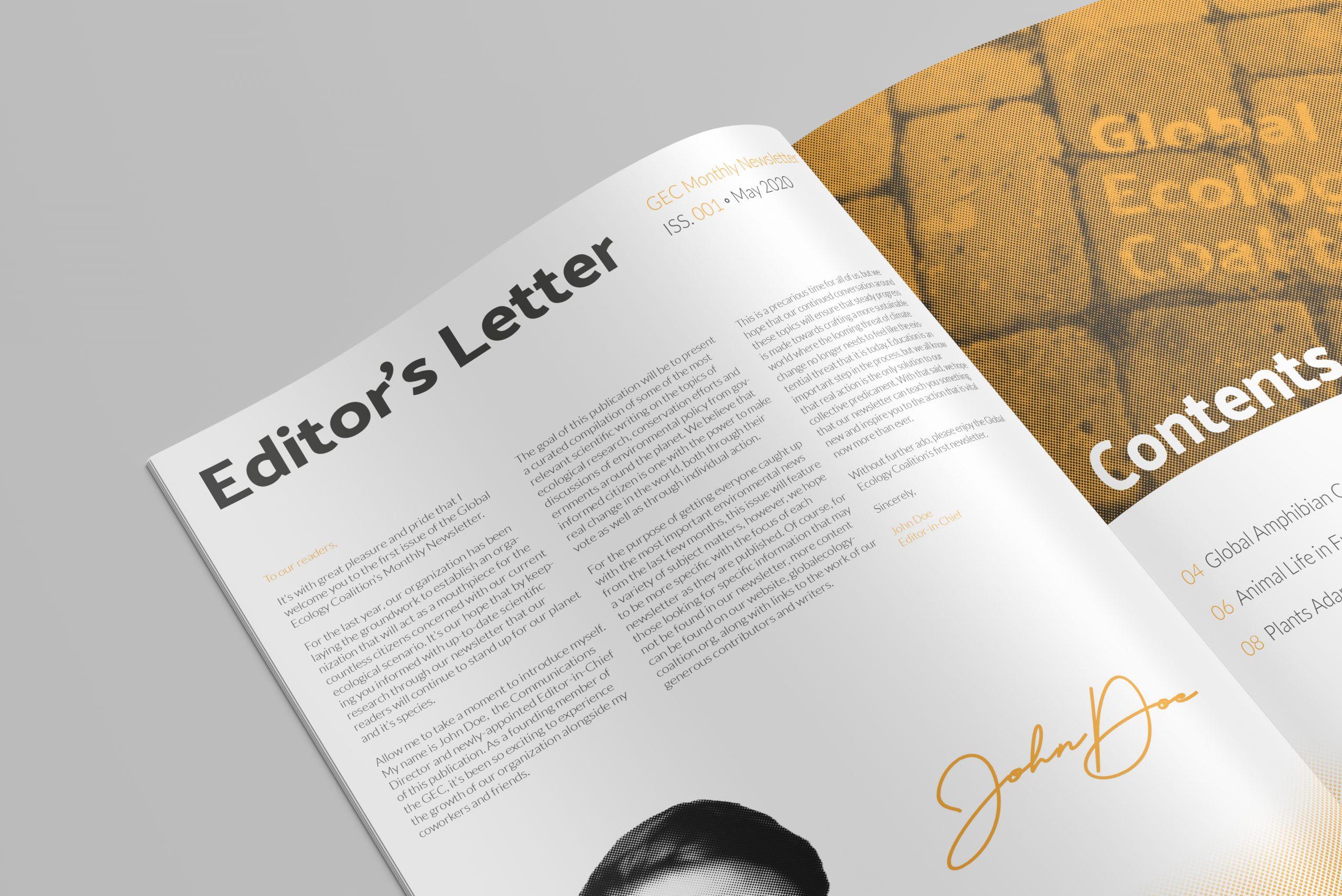 GEC Newsletter Editor's Letter